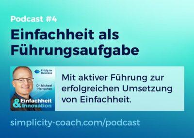 Podcast #4 Einfachheit als Führungsaufgabe